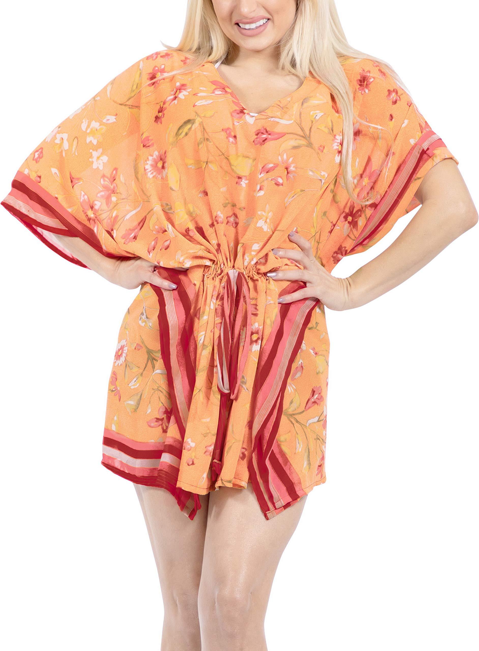 LA LEELA Abito Kimono Abbigliamento Casual Kaftano Top Costume da Bagno Cover up Spiaggia Estiva per Le Donne 2 spesavip
