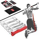 Pull Up Weerstandsband Elastiek band Fitness + Trainingsgids – Latex Optrek Powerband | Omhoog trekken Optrekhulp Optrekband