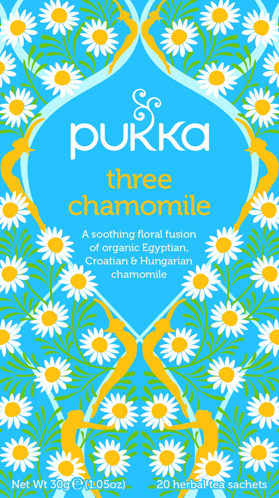 Pukka relax range tea bundle (soil association) (infusions) (4 packs of 20 bags) (80 bags) (a floral tea with aromas of camomile) (brews in up to 15 min)