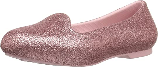 crocs Eve Sparkle Girls Flat in Pink