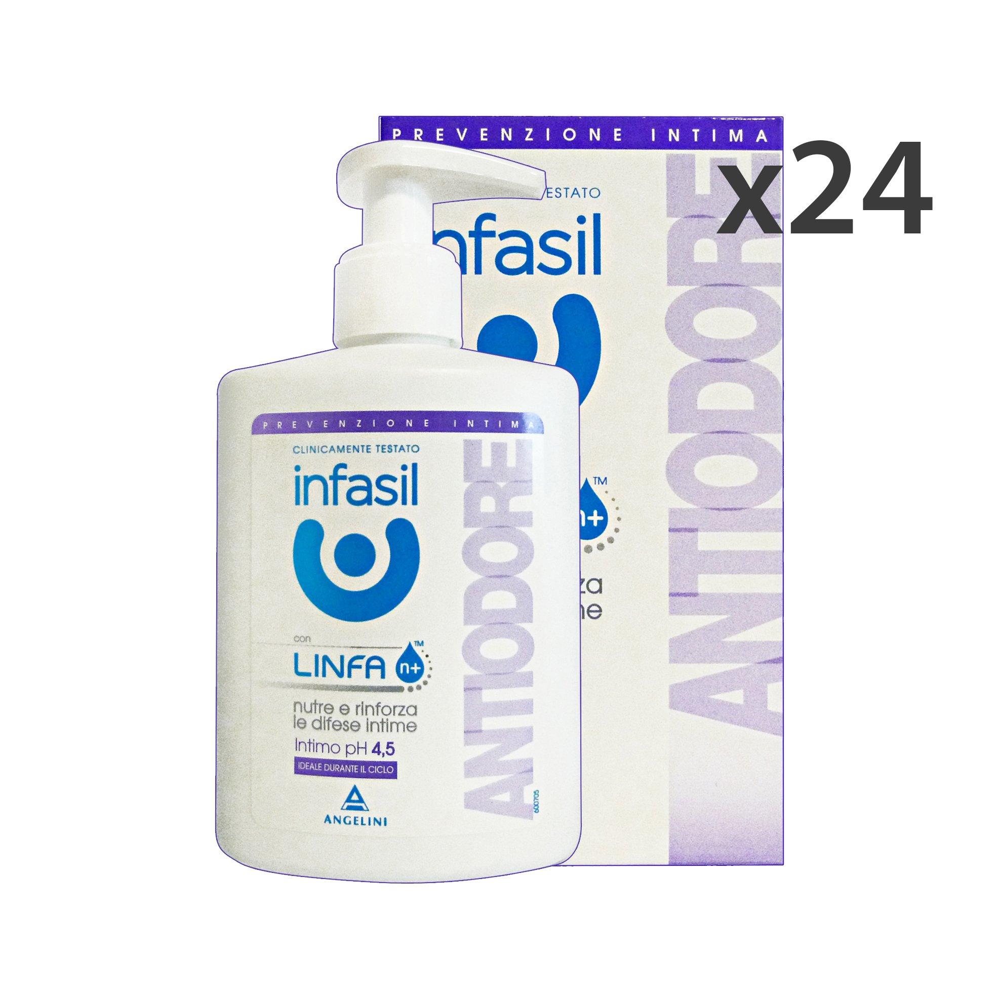 Set 24 INFASIL Sapone INTIMO AntiODORE 200 Ml. Saponi e cosmetici