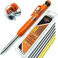 Crayon Chantier SOLIDE et EXTENSIBLE [+ INCLUS 7 MINE Multi-Supports + Taille Mine] Porte Mine pour Menuisier Grasse…