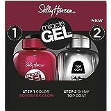 Sally Hansen Smalto Unghie Miracle Gel, Smalto Gel Senza Lampada UV, Effetto Manicure Professionale, Bordeaux Glow, Confezion