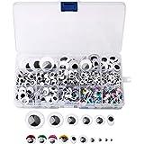 Yeux Mobile Autocollant, 1200 Pcs Wiggle Eyes en Plastique Lisse Accessoire Bricolage Decoration pour Projet DIY Craft Scrapb
