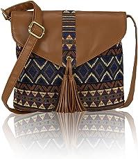 Kleio Jacquard Stylish Sling bag for Women / Girls