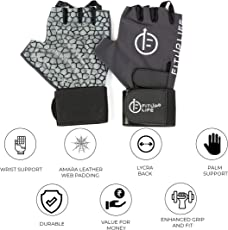 Fitup Life Gym Gloves with Adjustable Wrist Grip (Imported)