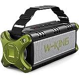 W-KING 50W(70W Peak) Enceinte Bluetooth Portable & Batterie de Recharge 8000 mAh, Autonomie 24 hrs,Haut-parleur IPX6 Extérieu