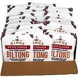 Kings Rib Eye Flavour Beef Biltong 1kg Box of 40 x 25g Packs