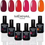 COFFRET ROUGE MEANAIL® Paris • 6 VERNIS GEL POLISH • Vernis à ongles semi permanents longue tenue • Nail Art • Soak off Nail Polish • Vegan & Cruelty Free • Design et conception française
