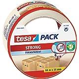 tesa 5044 Cinta de embalaje ideal para el sellado de cajas, ofrece un desbobinado silencioso y una fuerte adhesión al cartón,