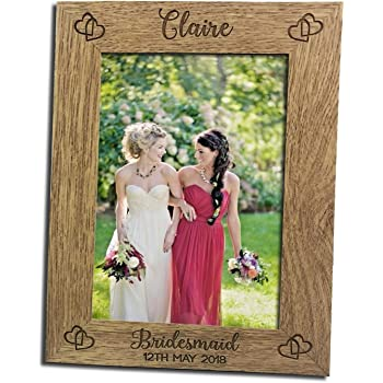 Personalised Photo Frame 5x7 Personalised Gift Engraved Wooden