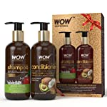 WOW Apple Cider Vinegar Shampoo - WOWsome Twosome No Parabens & Sulphates Hair Care Package – 600mL