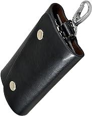 Instabuyz Black Key Pouch/Wallet Key Chain Stylish/Black Wallet Key Chain/Black Key Pouch/Leather Wallet Key-chain