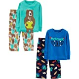 Simple Joys by Carter's 4-Piece Set Infant-and-Toddler-Pajama-Sets, Monster/Bear, 24 meses