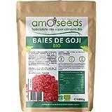 Baies de Goji Bio Supérieures 1KG | Antioxydants, Énergie, Anti-stress, Perte de Poids | amOseeds