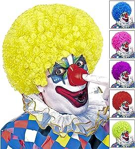 42086 SMIFFYS Smiffys Taglia Unica rosa 120g per Adulti Parrucca da clown pazzo
