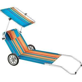 strandliege mit rollen klappbar strandrolli schwimmbadliege rollliege blau. Black Bedroom Furniture Sets. Home Design Ideas