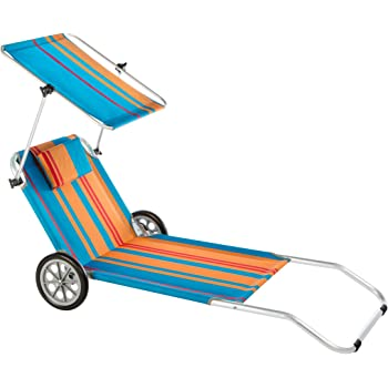 Crivit strandliege  Amazon.de: Crivit Strandliege Sonnenliege Transportliege Tragbare ...