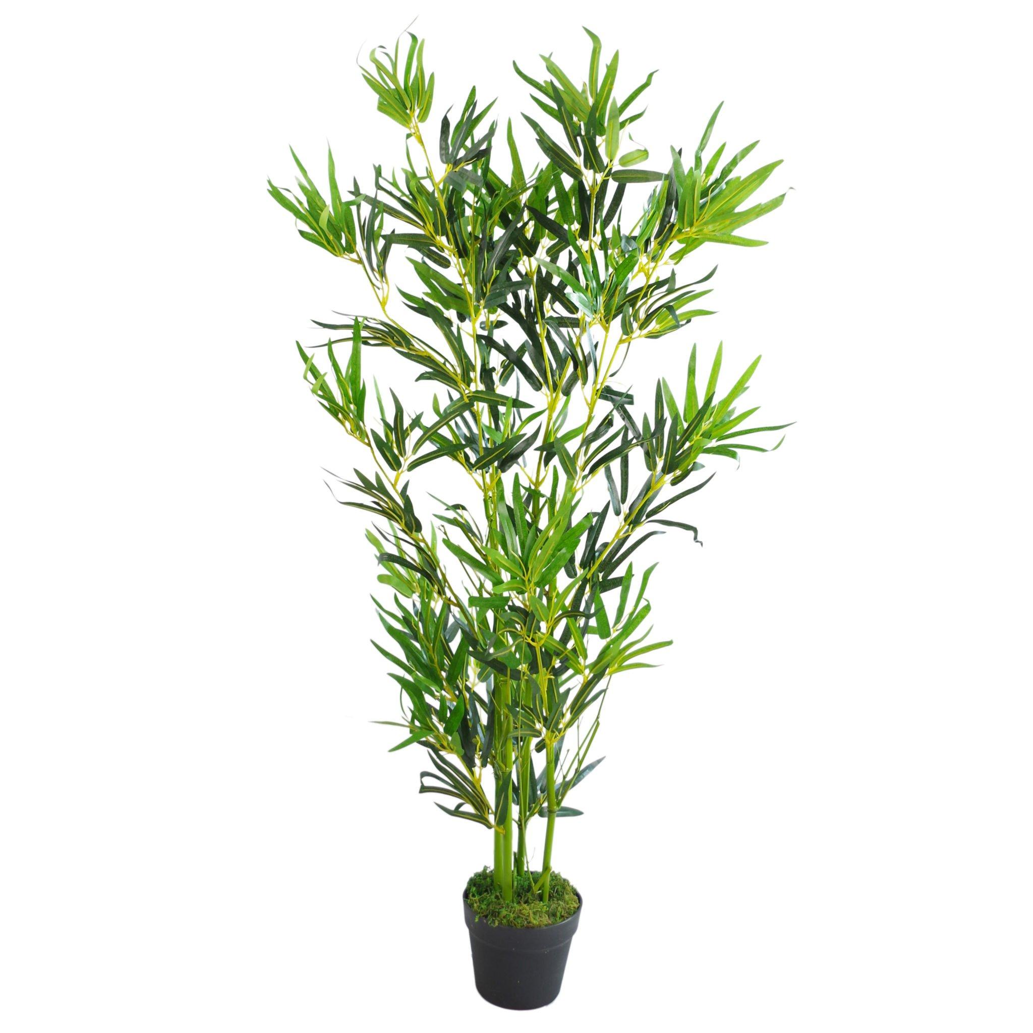 Leaf Design UK – Árboles de bambú Artificiales, tamaño XL, Realista, 120 cm, Color Verde Natural