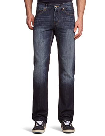 7 For All Mankind Men's Standard Straight Jeans, Blue (New York ...