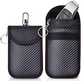 Caslord 2 Pack Faraday Pouch,Anti-Theft Faraday Bag for Car Keys,RFID Car Key Signal Blocking Pouch (M)