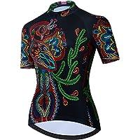 Neuheit Totenkopf Damen Langarm Radtrikot Winter Bike Jersey Top Mountainbike MTB Rennrad Radfahren Schnell Trocken R/ückentasche Sportbekleidung