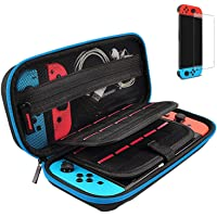 Case for Nintendo Switch, Switch Carry Case with 1 Pack Screen Protector Glass and 20 Game Cartridge - Protective Hard…