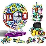Flyfun Bloques Magneticos Magneticos, Juguetes Construcciones Magneticas para Niños, 117 Piezas Bloques Magnéticos 3D Juguete