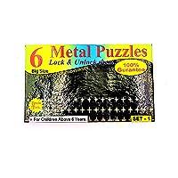 Negi Magic Tricks Set for Kids of 6 Metal Puzzle- Lock and Unlock