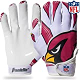 Franklin Sports Youth NFL Football Receiver Gloves - Receiver Gloves For Kids - NFL Team Logos and Silicone Palm - Youth Pair