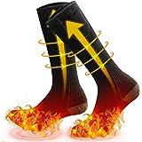 MOVTOTOP Verwarmde sokken, verwarmde sokken voor mannen/vrouwen, oplaadbaar, wasbaar 2020 nieuwste elektrische sokken, 3 warm