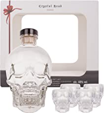 Crystal Head Vodka mit Geschenkverpackung mit 4 Shotgläsern (1 x 0.7 l)