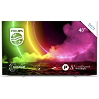 Philips 48OLED806 48 Zoll 4K Smart TV UHD OLED Android TV mit Ambilight, HDR-Bild, Dolby Vision und Atmos Sound, VRR…