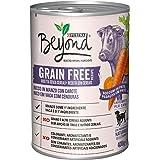 Purina Beyond Umido Cane Grain Free Bocconi in Patè con Manzo e Carote, 12 Lattine da 400 g Ciascuna, Confezione da 12 x 400