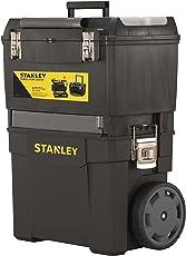 Stanley Rollende Werkstatt (47,3 x 30,2 x 62,7 cm, zwei seperat verwendbare Werkzeugboxen, robuster Kunststoff, zwei Einheiten, Metallschließen, Organizer) 1-93-968