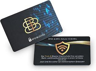 RFID Blocker NFC Schutzkarte- Blocking Card schützt Geldbörse mit Kreditkarten Reisepass gegen Datenklau- Blocker Karte ersetzt RFID Schutzhüllen