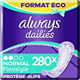 Always Dailies, Protège-Slips, Flexistyle Normal, Format Eco x280 (10 pack de 28 unités)