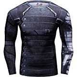 Cody Lundin® de los Hombres Compresión Deporte Apretado Camisa Winter Warrior Cosplay Manga Larga Rutina Ejercicio Camiseta (