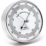 Fischer 15.01 Barometer für innen und außen, Edelstahlgehäuse, Manufaktur aus Deutschland