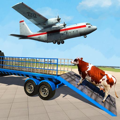 Flugzeugtransport für Nutztiere