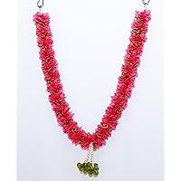 Daedal crafters Artificial Jasminum Garland (Red)