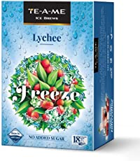 TE-A-ME Ice Brews Cold Brew Ice Tea, Lychee, 18 Pyramid Bags