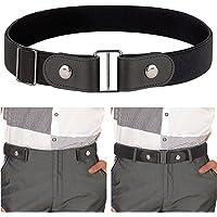 IGrugta Cintura Uomo Elastica-1 Cintura Senza Fibbia & 1 Cinture Intrecciata Unisex 110-130CM Cintura da Lavoro Cinta…