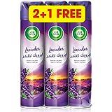 Air Wick Air Freshener Aerosol Lavender 300ml, 2+1 free