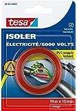 Tesa 56163-00003-00 Isoler Electricité / 6000 Volts PVC Souple Isolant 10 m x 15 mm