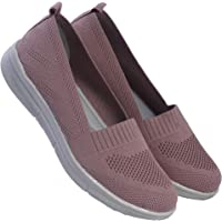 CatBird Women's & Girl's Breathable Knitted Fabric Slip on Loafer | Daily -Office Wear Lightweight Moccasins