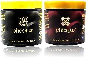 phos4us - Hair Repair Masque and Hair Retarder (Combo Set) Natural Hair Spa Cream/Mask and Unwanted Hair Retarder/Vanishing Cream (2x100)