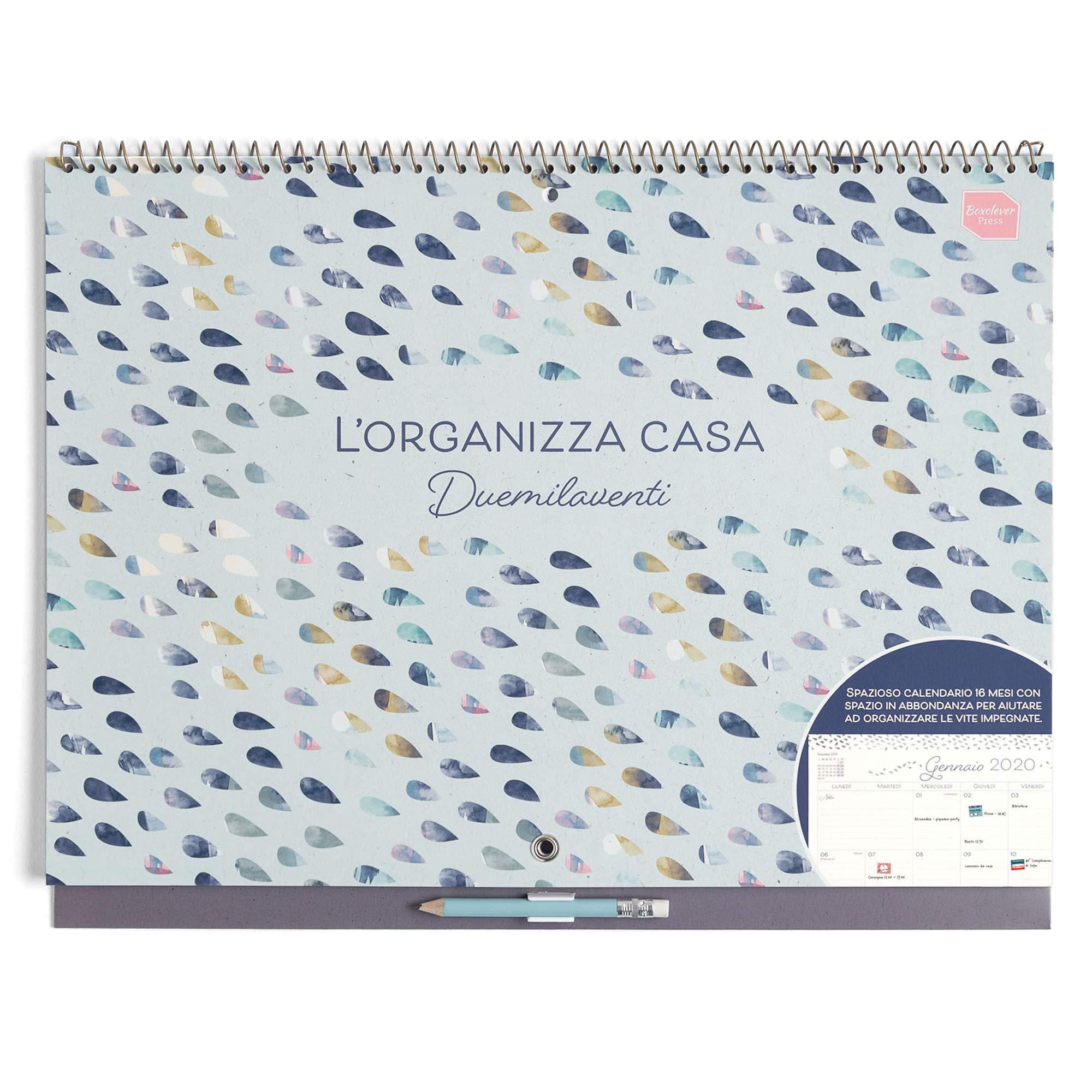 Calendario Accademico 2020.Boxclever Press L Organizza Casa Calendario Mensile 2019 2020 Calendario 2019 Da Muro Accademico In Italiano Con Ampio Spazio Inizia Da Settembre