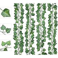 AIOR Lierre Artificielle Plantes Guirlande Vigne 12 Pcs, 6.5 Ft Exterieur Faux Lierre Artificiel Grimpant Décoration…