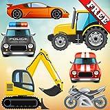 Vehículos y coches para bebés y niños: jugar con camiones, tractores y carros de juguete! GRATIS
